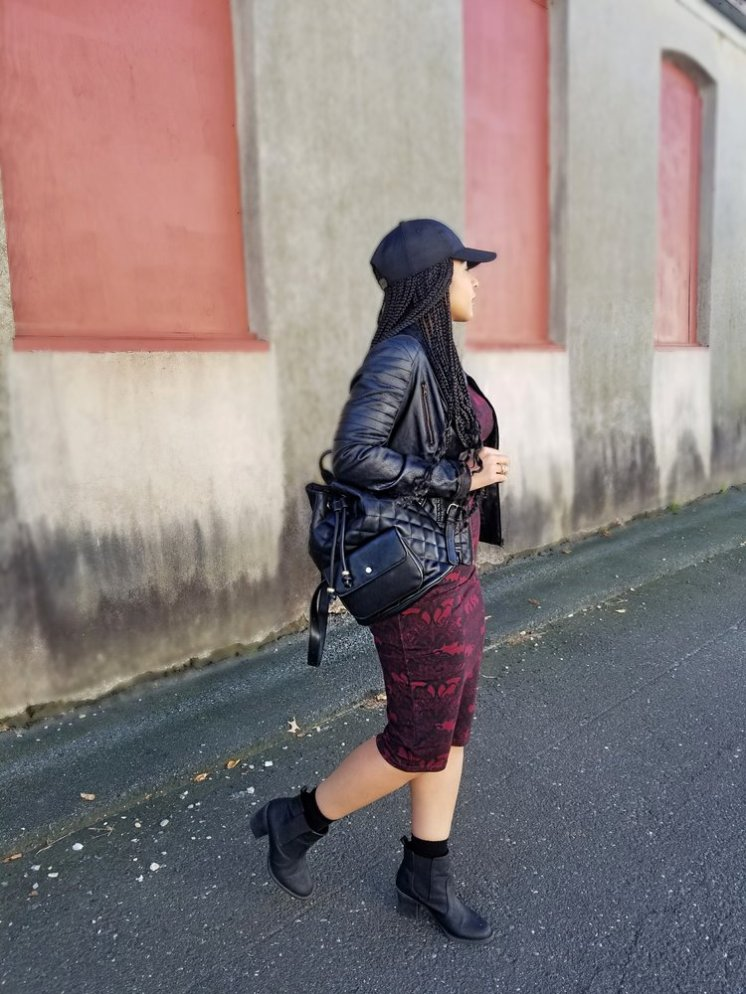 Black Ankle Booties and Ribbed Socks from H&M/Black BackPack from Forever21